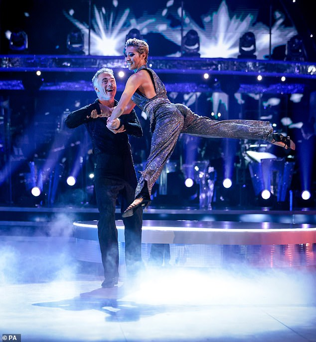 Emotional: Greg tears down Saturday's Strictly Come Dancing as Claire dedicates her pair's dance of choice