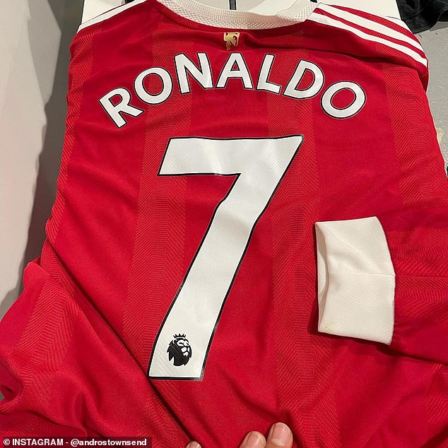 Townsend finally grabbed Ronaldo's shirt and posted it to Instagram