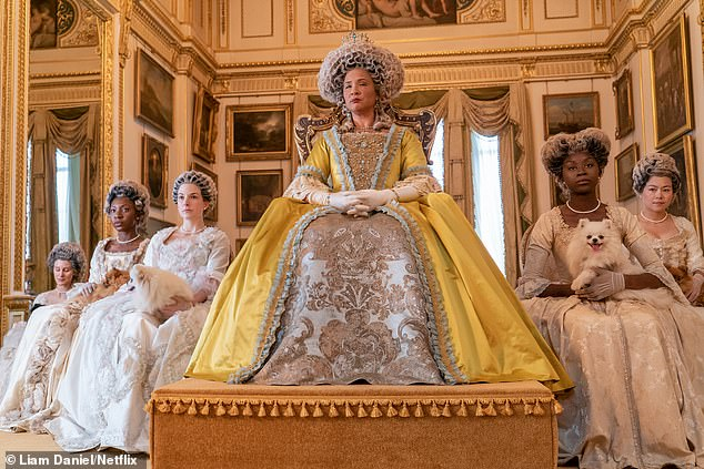 Marc Pilcher's designs for Queen Charlotte, played by Golda Rosheuvel, helped win him an Emmy award for best period hair styling