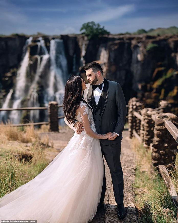 The Ukraine-born bride, who had made her meteoric career in Russia, claimed: 'Many said it was the wedding of the century... but I would say it was the thrill of the century.