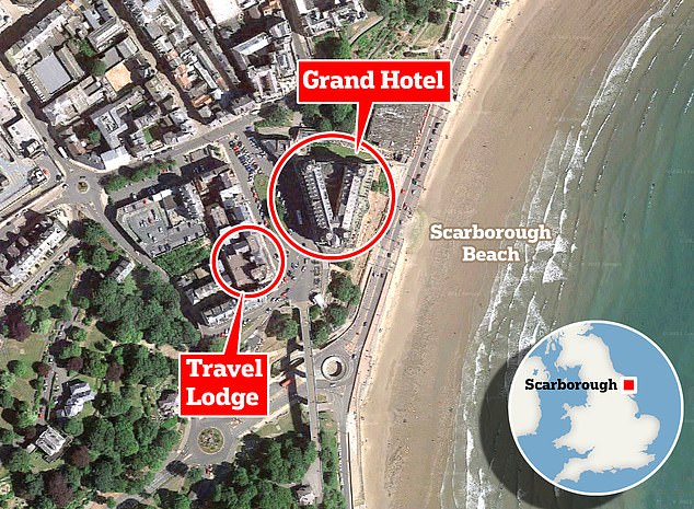 North Yorkshire Police had earlier ordered those staying at the Grand Hotel and the nearby Travelodge Scarborough to vacate the buildings urgently and set up a large cordon in the surrounding area