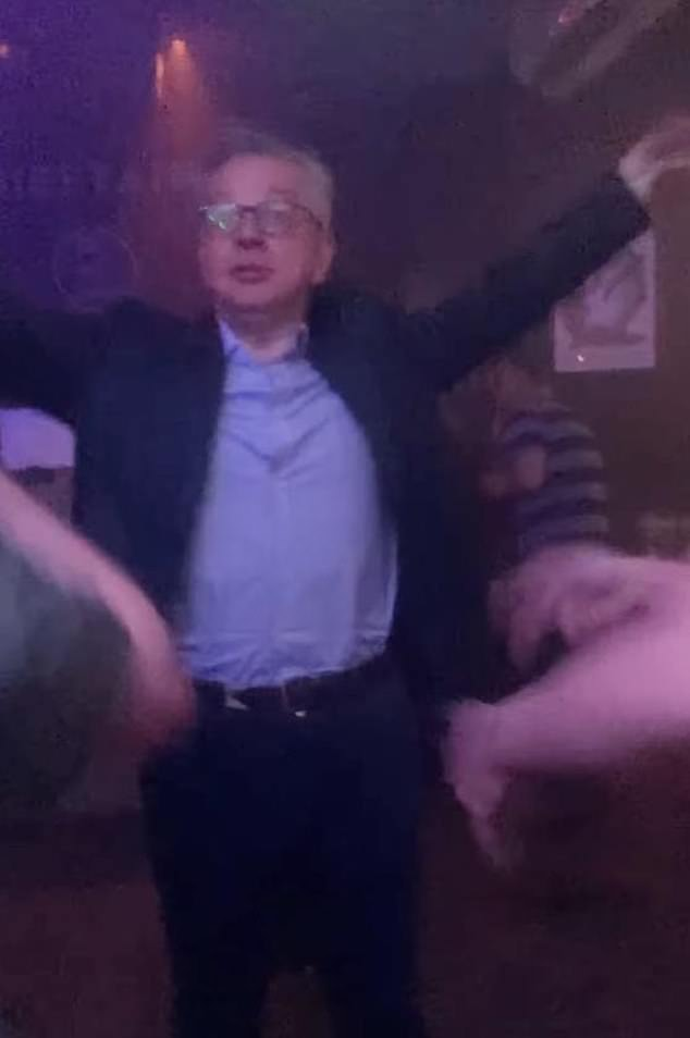 Mr Gove is no stranger to the dance floor - he was seen partying away in Aberdeen - his home city - in videos posted on social media over the August bank holiday weekend
