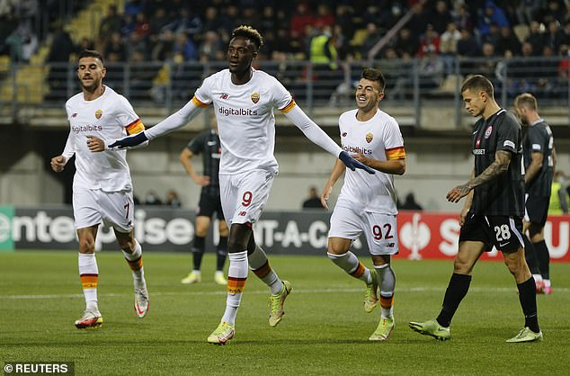 Abraham is on the scoresheet as Roma win over Zorya Luhansk last week