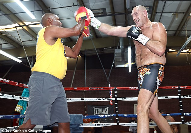 The Sugar Hill stewards (left) believe the extra weight will pay off for Tyson Fury (right) against Wilder