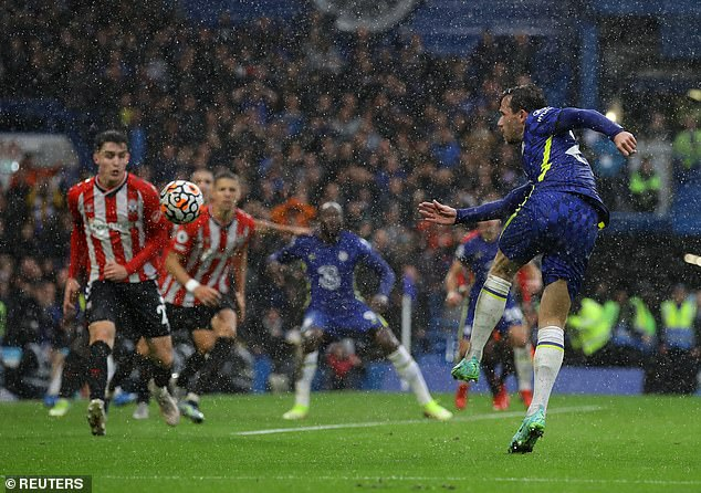 Ben Chilwell fired home Chelsea's third goal to seal their 3-1 win over Southampton