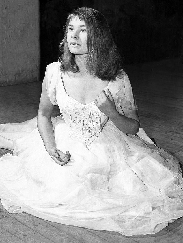 Happy: After visiting Kronborg Castle – immortalized in Shakespeare's play Hamlet – Judy, who played Ophelia in Hamlet (pictured, 1957) admitted to the Radio Times: 'I've always wanted to visit Kronborg Castle and now not only I have visited it, but I have a link to it too.'