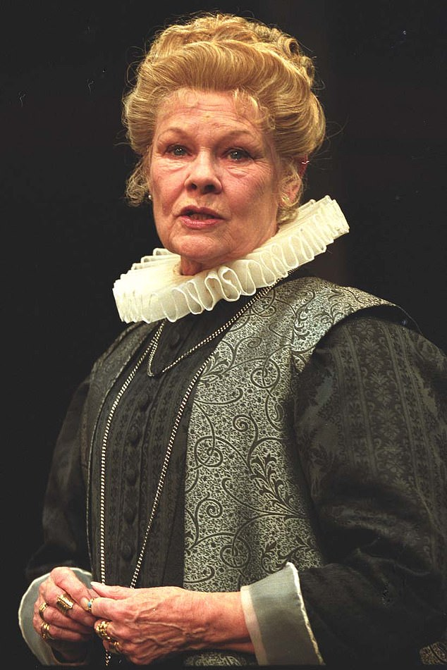 Passionate: Judy has previously spoken about her obsession with the Elizabethan bard, and the many roles she has played in various plays, Juliet in Romeo and Juliet and Lady Macbeth in Macbeth, and Countess Rossilian in All Well That Ends Well ( pictured) )