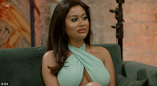 Drama: Meanwhile, the sightings come after MAFS UK's Nikita Jasmine (pictured) hit out at co-star Alexis during this week's reunion episode where she made an explosive return after being axed from the series