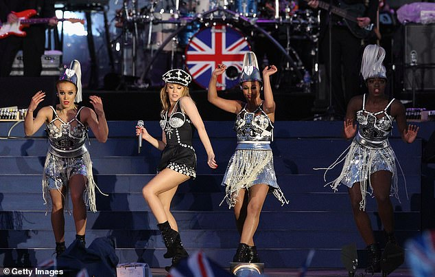 Expat: Kylie, who started her career on Aussie soap Neighbours before becoming a popular singer, has lived in Britain since the early '90s. Picturedon stage during the Diamond Jubilee concert at Buckingham Palace on June 4, 2012, in London