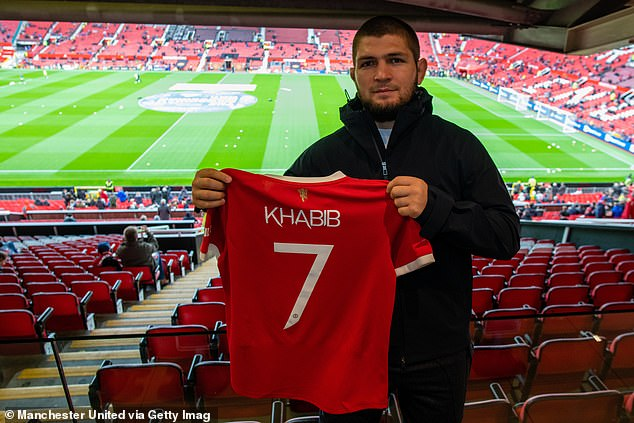 Khabib was the guest of honor at Old Trafford for the Premier League clash over the weekend