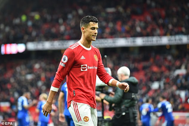 Ronaldo was seen walking down the Old Trafford tunnel on Saturday with his whistle blowing the whole time