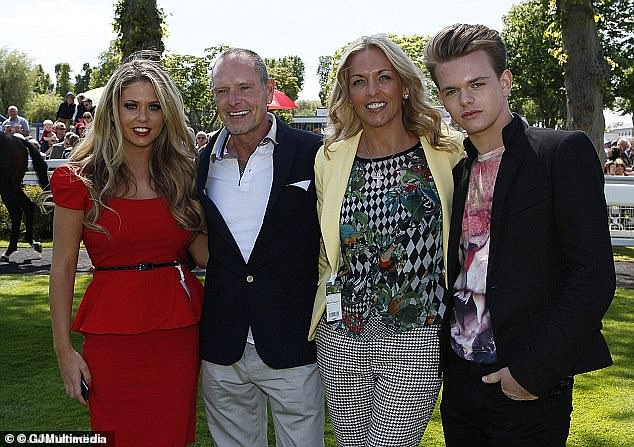 Family: After watching his sister Bianca participate in the likes of Celebrity Big Brother, Love Island and Italy's Dancing With the Stars, it marks Regan's reality show (pictured with his mother Sherrill, centre-right, father Paul , centre-left, and sister Bianca, moved too far in 2013)
