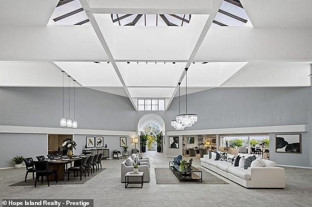 Renovate:The property underwent a $1million makeover last year, which included turning an indoor pool into a sprawling living and dining space