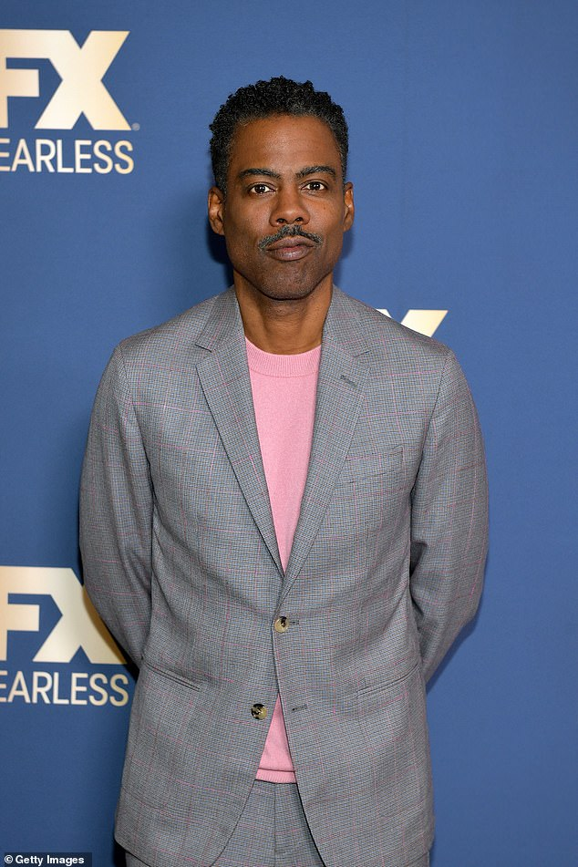 Compliment: Jimmy said he was inspired to call his son Rockefeller after business magnate, but also after 'the greatest comedian of all time' Chris Rock.