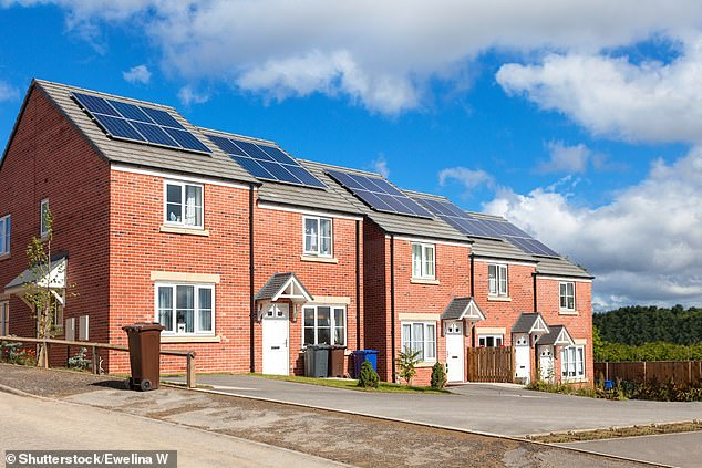 Having solar panels installed could add £1,800 to a property's value, according to new data
