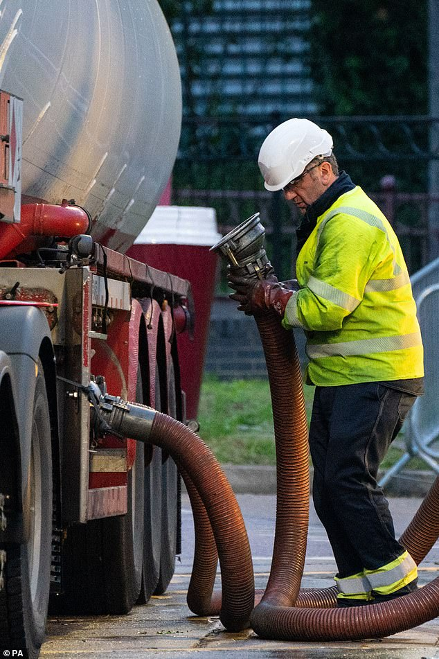Fuel missing from the pumps was caused by a shortage of HGV drivers available to stock them
