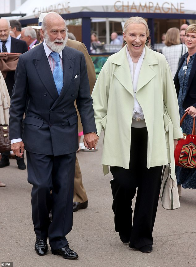 Prince Michael of Kent, left, was allowed by the Queen to marry his wife, born Marie-Christine von Reibnitz, right, in a civil ceremony in 1978, in Vienna, and later in 1983 in London in a Roman Catholic ceremony.