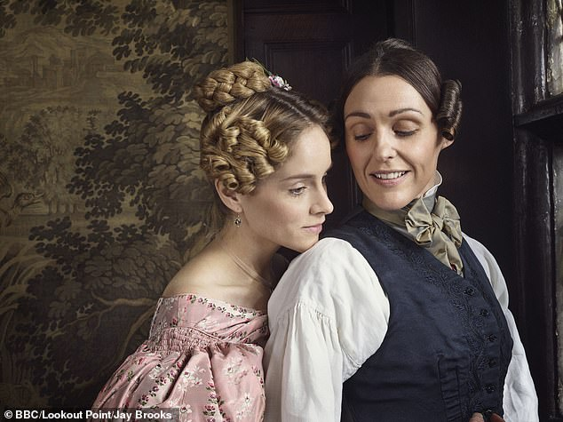 Characters: Surne and Sophie portray lesbian lovers Anne Lister and Ann Walker in BBC drama