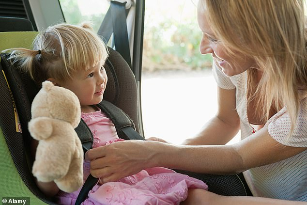 Scientists warn that common chemicals used to prevent fires in TVs and car seats can harm children's brains [stock image]