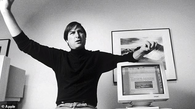 On Tuesday, the tech giant shared a video spanning more than two minutes, talking about Jobs' first Apple computer, which he said was 'the most remarkable we took. [Apple] ever came along