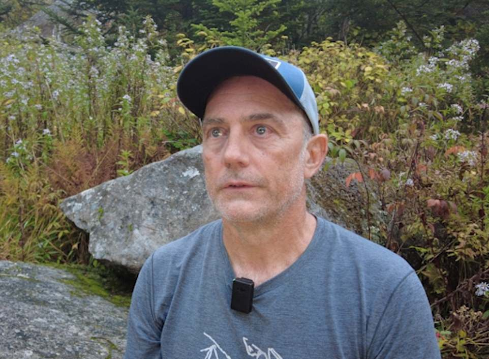 Hiker Dennis Davis, 53, said he encountered Brian Laundrie on a deserted road close to the trail near to the Tennessee border early Saturday morning
