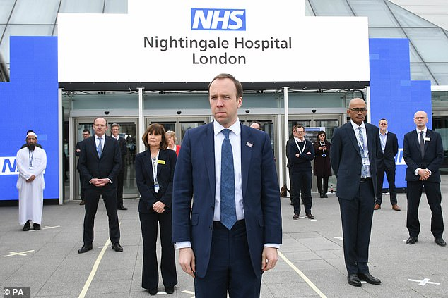 London's Nightingale Hospital was one of seven temporary hospitals opened by then-Health Secretary Matt Hancock at the start of the pandemic last year.
