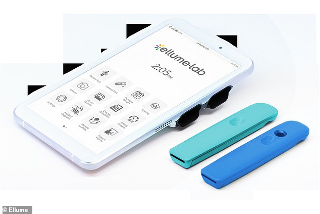The test comes with a nasal swab analyzer that connects to an app on users' smartphones, and gives results in 15 minutes