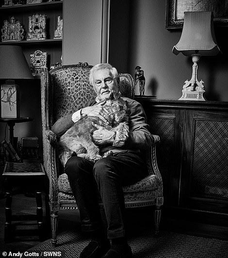 Cuddles: Sir Derek Jacoby Irish Terrier with Daisy