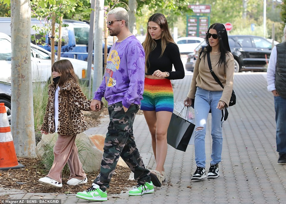 Second-in-command: She was spotted out with Disick, his then-girlfriend Amelia, and his daughter Penelope back in April