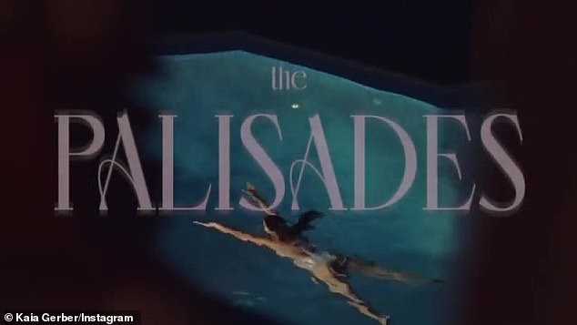 Making a splash: A woman enjoys a night swim at the close of the teaser