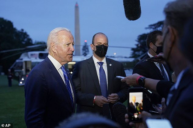 President Biden told reporters on Tuesday that using a one-off change to Senate rules to prevent a Republican filibuster and suspend the debt ceiling was 'a real possibility'