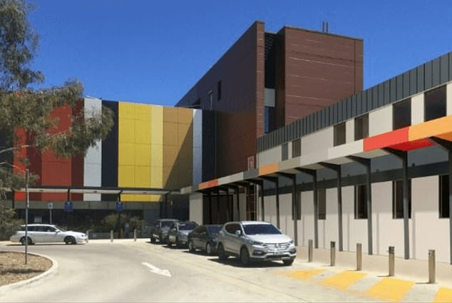 A newborn baby is being treated for Covid-19 after contracting the virus while staying in the NICU at Canberra Centenary Hospital (pictured)