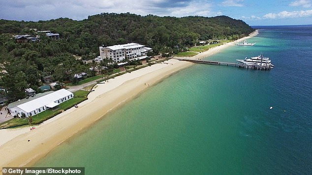 People can visit the island for a day trip or stay in the accommodation for a holiday, and use the facilities where filming occurred (stock image of Tangalooma Resort)