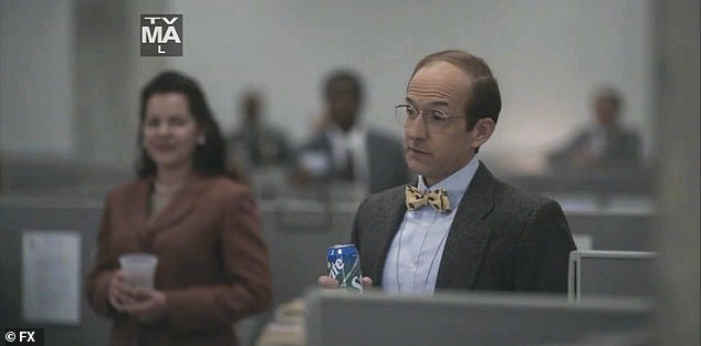 Kind words:Monica's boss Kenneth Bacon (Jim Rash) says some kind words for Monica on her last day, as Monica rushes up to Linda and asks what she's going to do