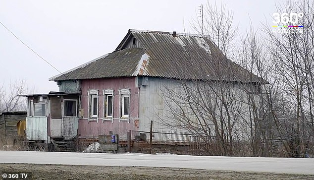 The horrifying murder took place at this house in Russia's Kursk region, close to the border with Ukraine