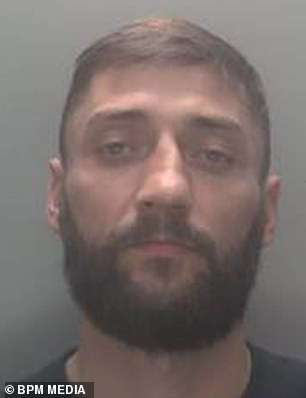 Former tank gunner Shaun Smith (pictured), 38, has been jailed for five years for causing death by dangerous driving