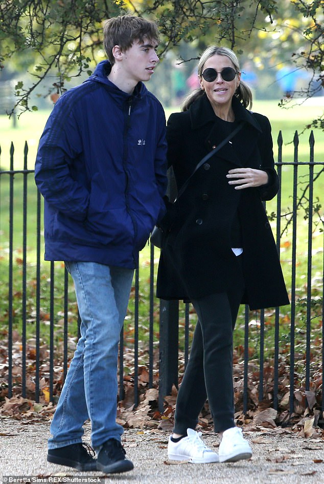 Second time mother: Nicole is also mum to Gene, 19, from her previous marriage to Oasis rocker Liam Gallagher, 49