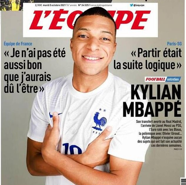 Mbappe gave an explosive interview in which he admitted he wanted to leave Paris for Madrid