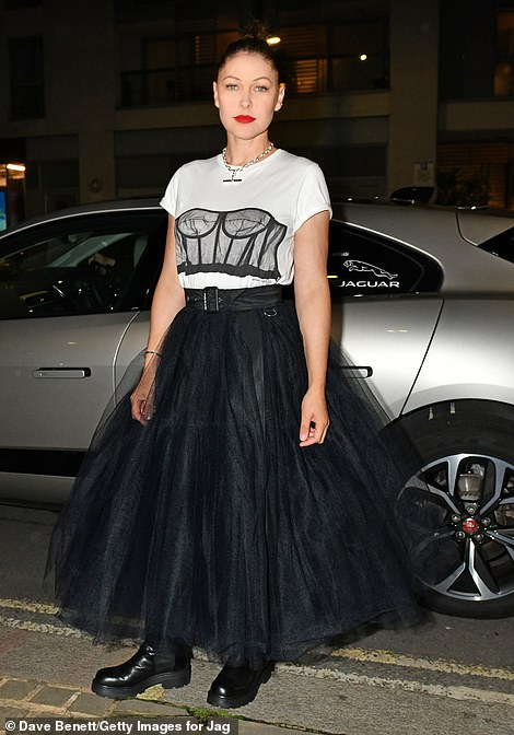 Style: She looked edgy in the ensemble