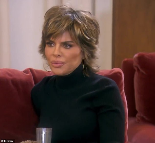 You're in for a grilling: Lisa Rinna chats to her friend Erika about whether she will face the music