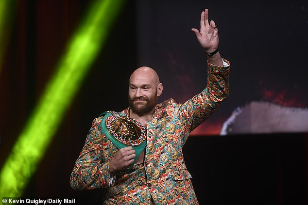 WBC Champion Fury had a normal flair on stage but he soon took on his American rival