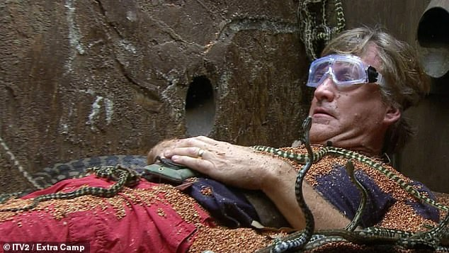 The deal: The TV presenter, 65, is said to have signed an estimated £200,000 contract to appear in the upcoming series (pictured on Extra Camp)