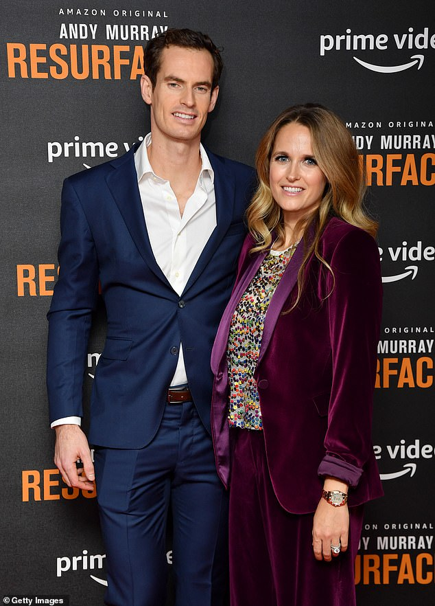 Murray, who was photographed with wife Kim Sears, has appealed for the safe return of his ring and shoes