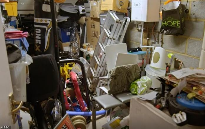 Ruined: A lack of storage space in the home meant the couple were forced to use their garage (pictured)
