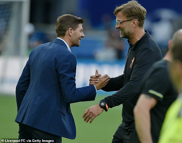 The German manager (right) says that he respects Gerrard (left) as both a player and person