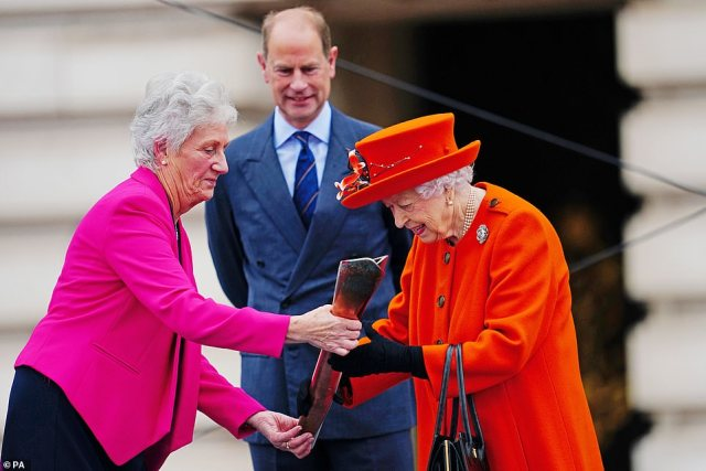 The Queen today launched Commonwealth Games baton relay at Buckingham Palace today ahead of the event in Birmingham 2022