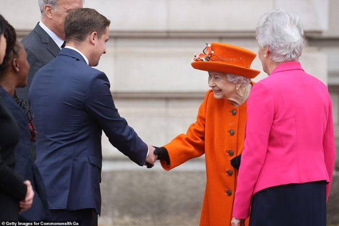 The Queen is patron of the Commonwealth Games Federation and was joined during the ceremony by the institution's deputy patron, the Earl of Wessex.