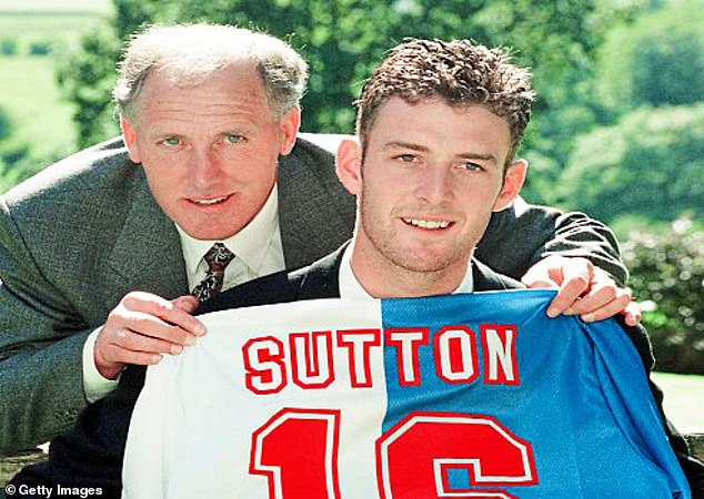 Sutton saw his father Mike (left) pass away from the dementia disease last year