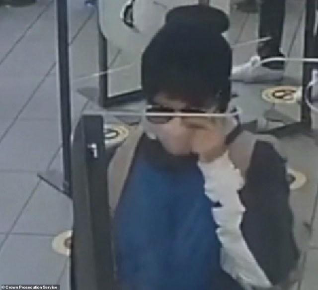 Rouf is seen on CCTV
