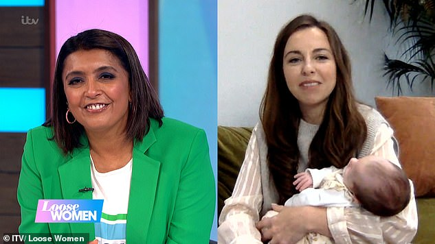 Sweet: Luisa admits they struggled to name her at first because she and Ben were considering boy names, but they eventually settled on Aura